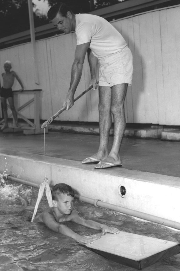 john carew teaching swimming